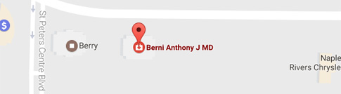 Location of Anthony J. Berni, MD
